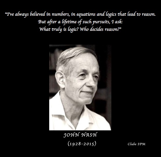 Frase Do Matemático Norte Americano John Nash Notícias Sociedade